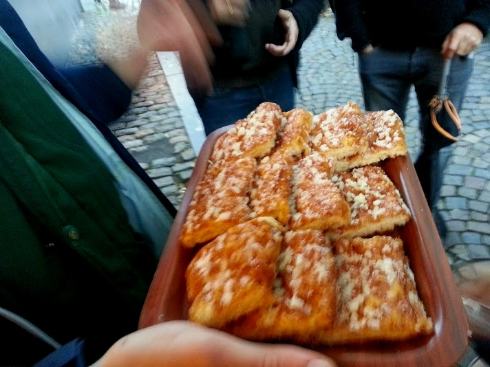 some heavily sugared bread- from a walking chocolate tour of Brussels