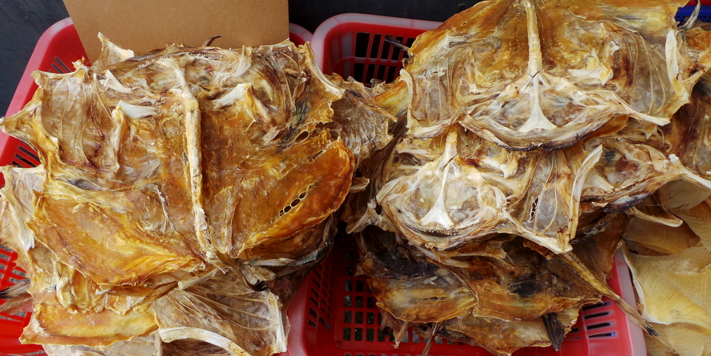 dried seafood in Tai O Fishing Village