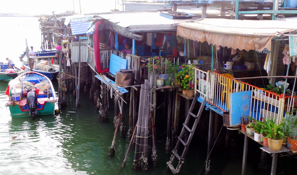 Stilt Houses and Restaurants in Tai O Fishing Village