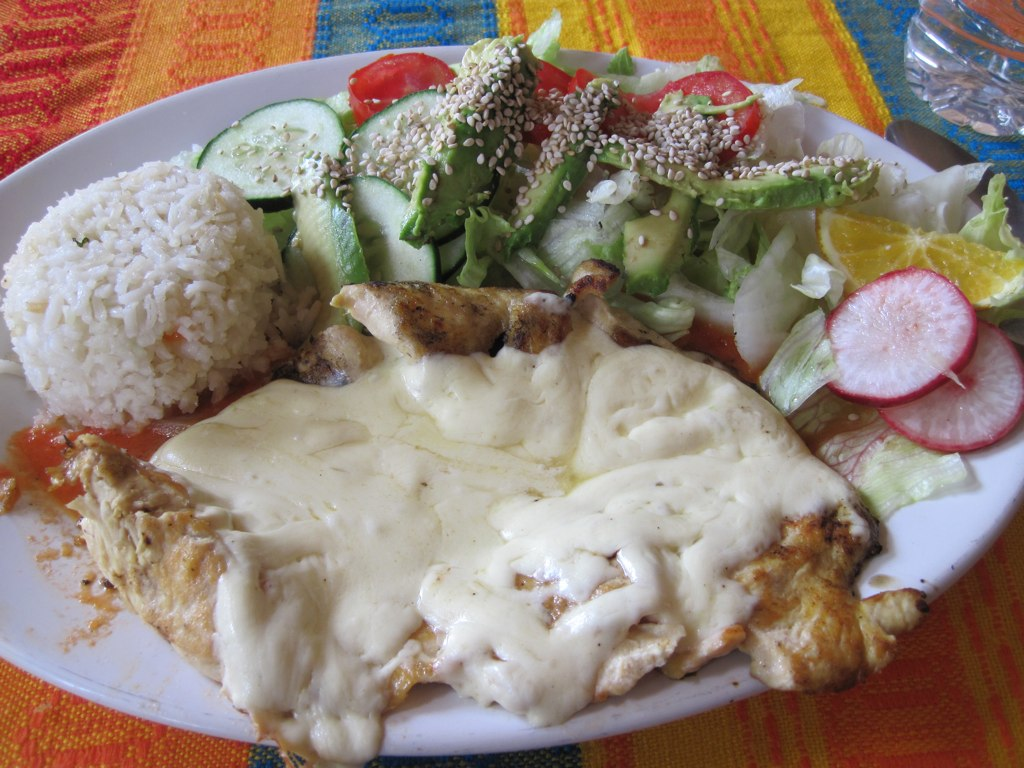 Chicken breast in cheese sauce