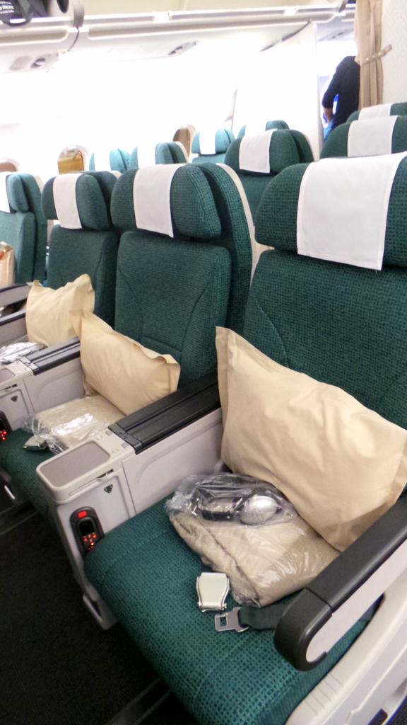Cathay Pacific Premium Economy CX 293 Hong Kong to Rome