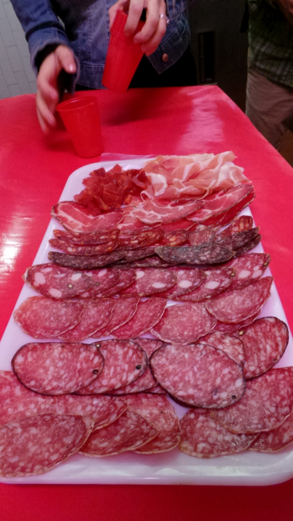 sample platter of Italian meat antipasti - Walks of Italy's Rome Food Tour