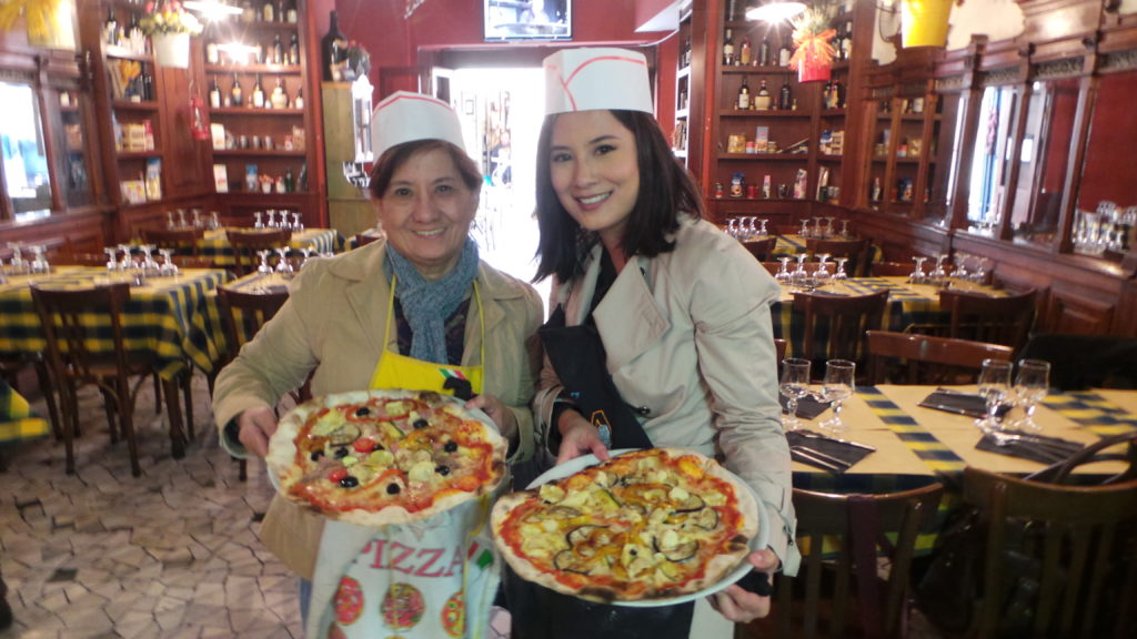 Ta-da ! our very own pizzas. From Walks of Italy's Rome Food Tour