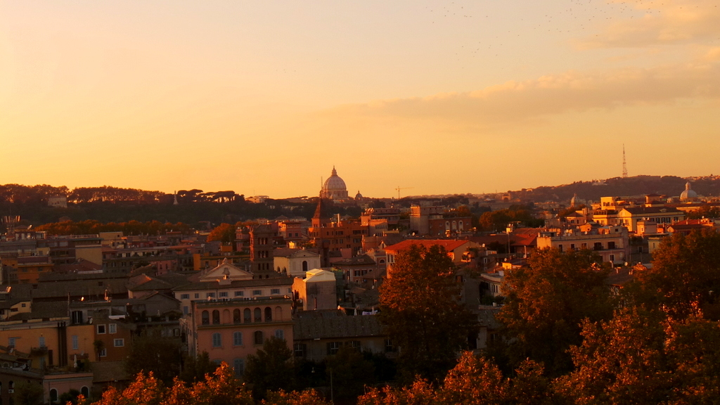 Sunset in Giancolo Hill, Rome