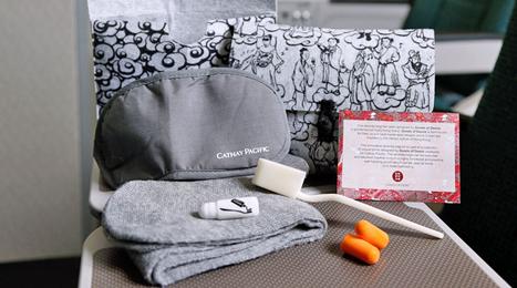 Cathay Pacific premium economy amenity kit