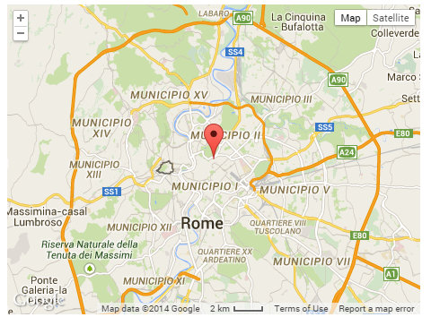 Central location in Rome