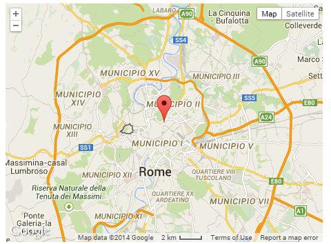Central location in Rome
