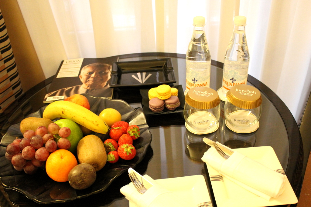 welcome amenity from the Jumeirah Grand Hotel Via Veneto