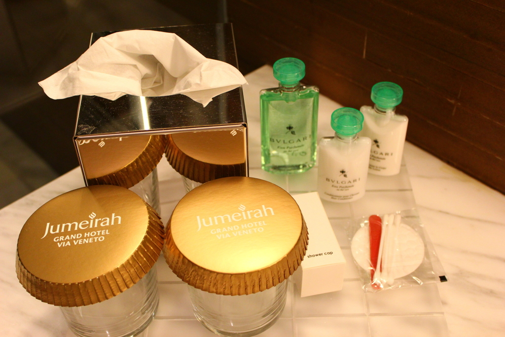Bathroom toiletries, Jumeirah Grand Hotel Via Veneto Rome