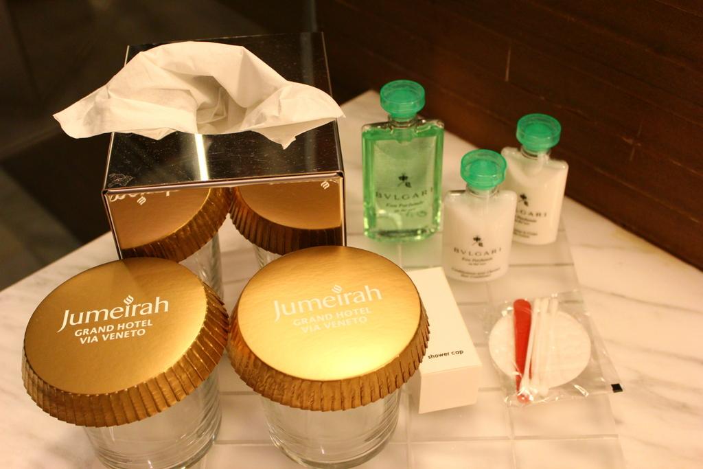 Bathroom toiletries, Jumeirah Grand Hotel Via Veneto Rome