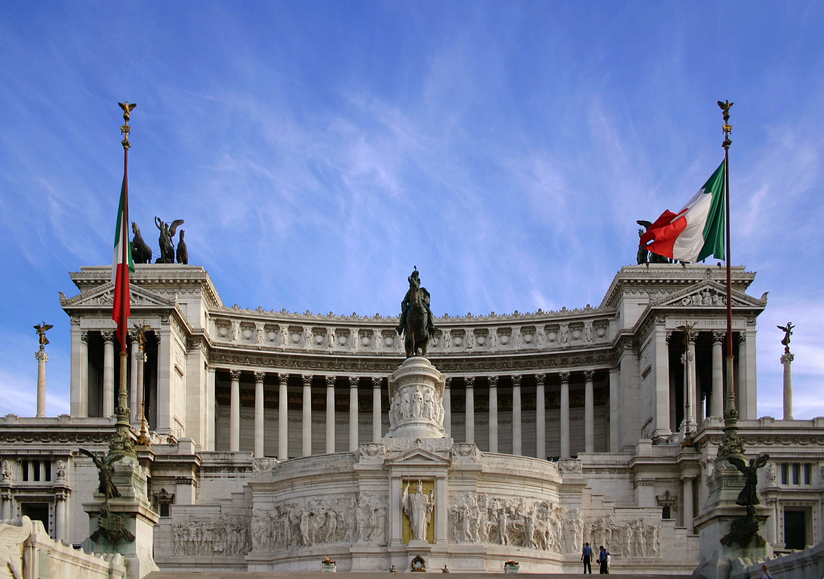 also known as the  Monumento Nazionale a Vittorio Emanuele II (photo from Wikipedia)
