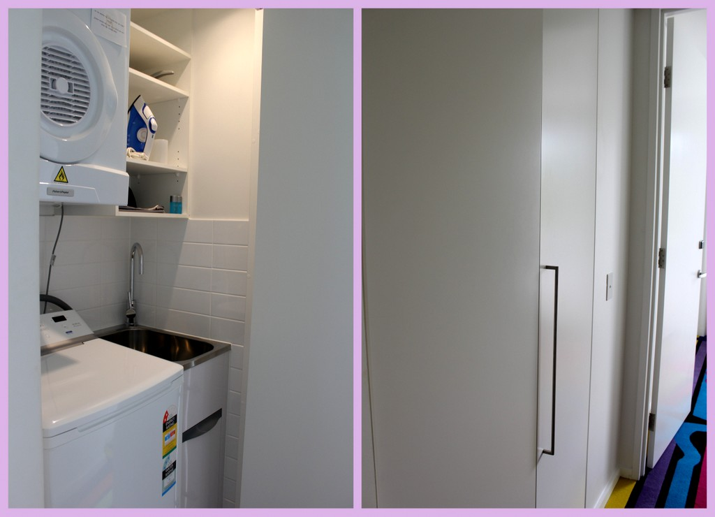 Laundry and Ironing facilities inside the apartment