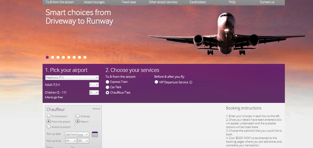 Booking with No.1 Traveller