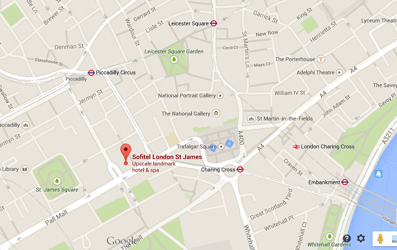 Location of Sofitel London St James