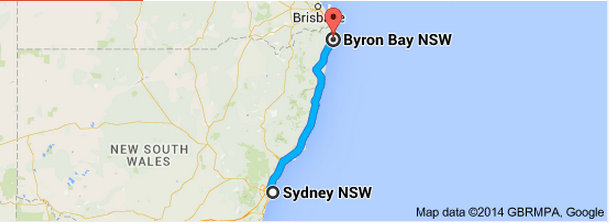 Sydney to Byron Bay