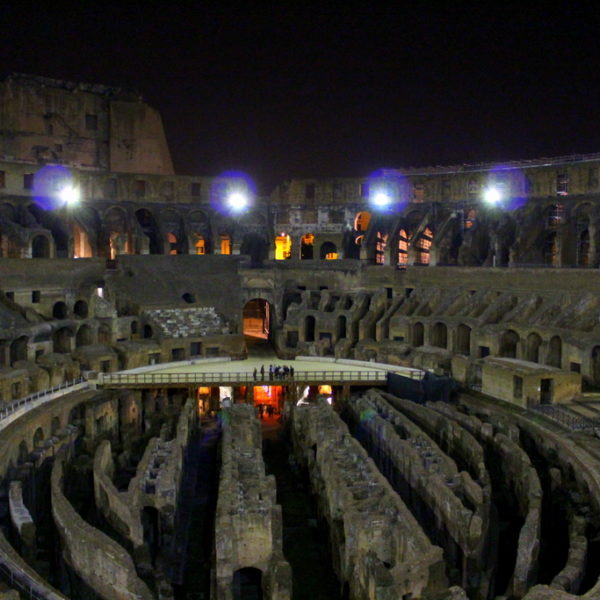 Visiting the Colosseum and its Undergrounds After Dark