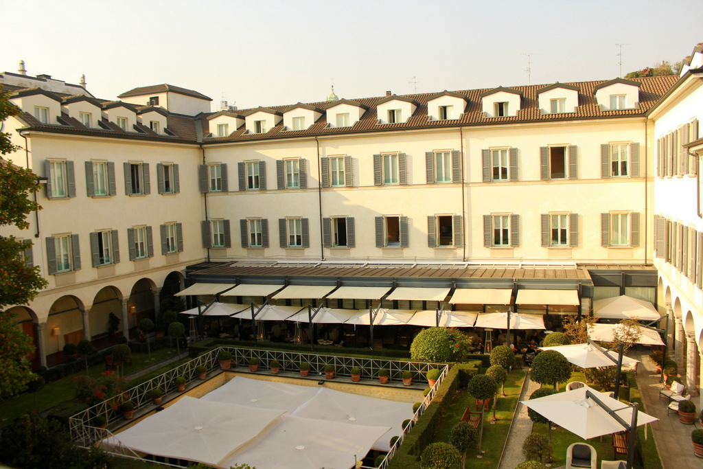 Our room overlooking the courtyard. Four Seasons Milano