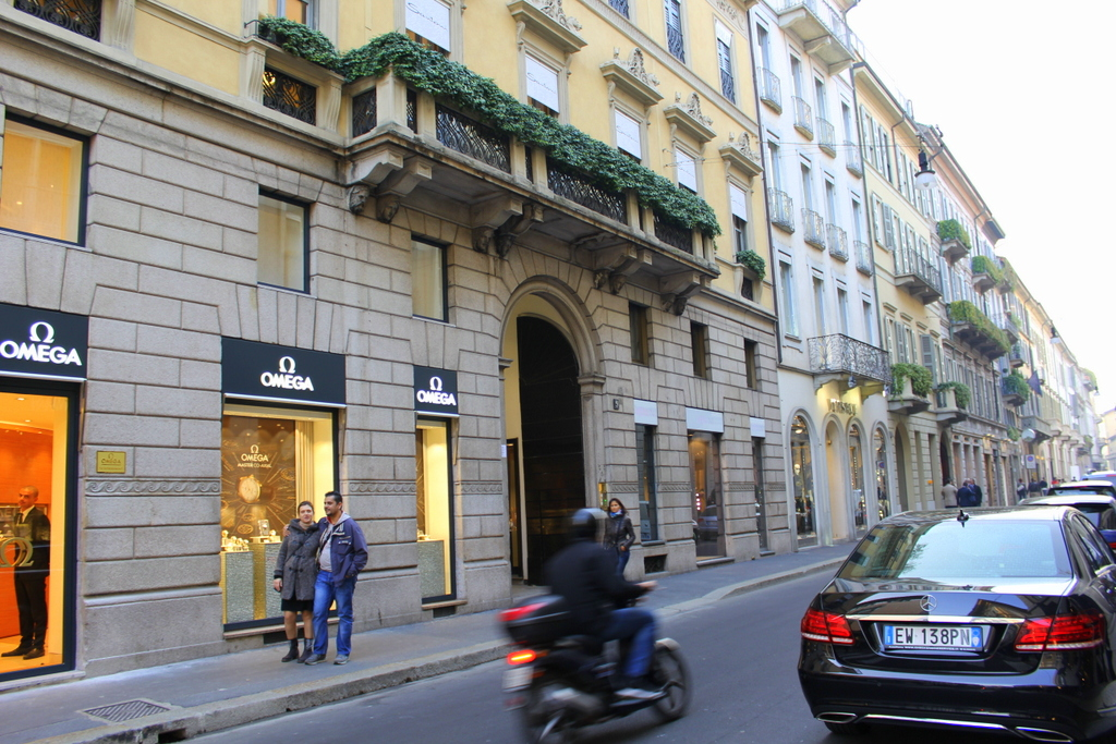 High end shopping in Milan
