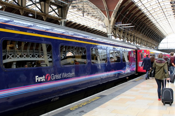First Great Western Train Line from London to Bath. Paddington Station