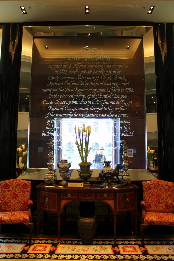 part of the lobby. Sofitel London St. James