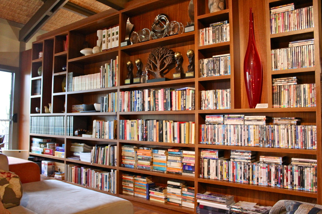 a huge library of books and DVDs at Gaia Retreat & Spa