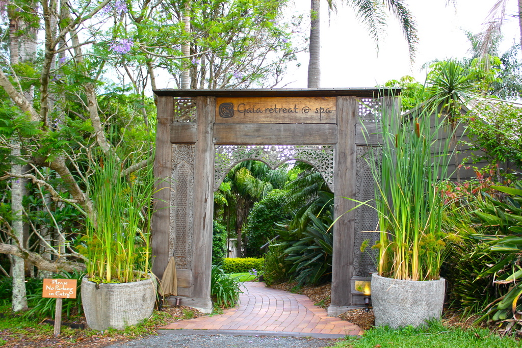 Entrance to Gaia Retreat & Spa