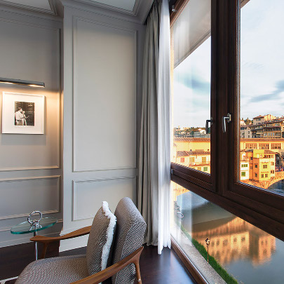 View of Arno River from the suite
