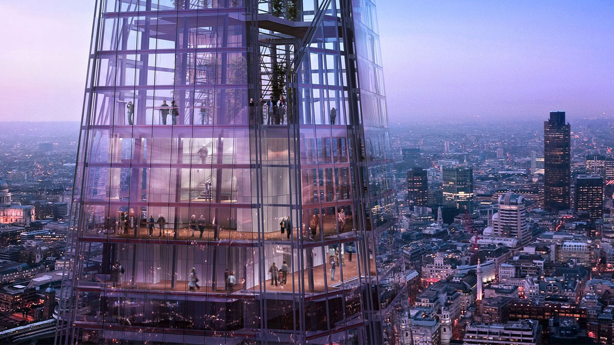 The Shard up close. Photo from The Shard website