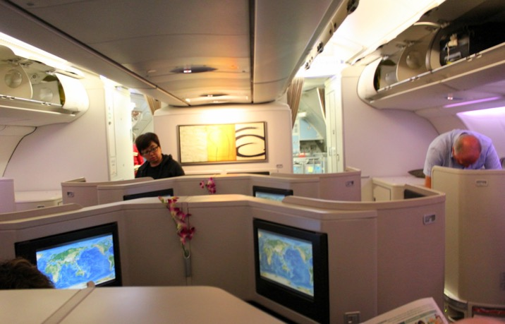 Cathay Pacific Business Class Hong Kong to Sydney CX 111