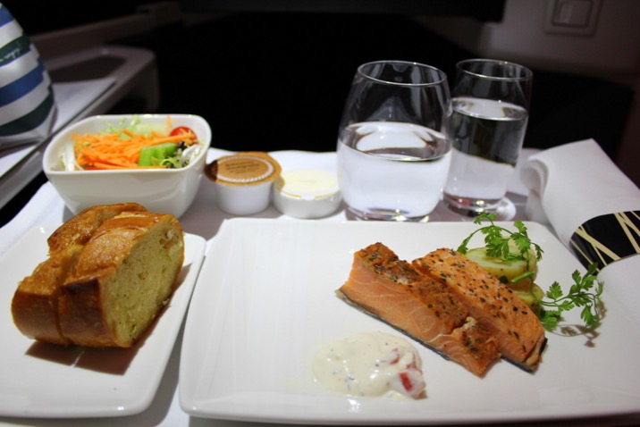 Starter for dinner. Cathay Pacific Business Class Hong Kong to Sydney CX 111