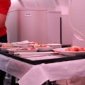 Dinner is served! Cathay Pacific Hong Kong to Sydney CX 111 Business Class