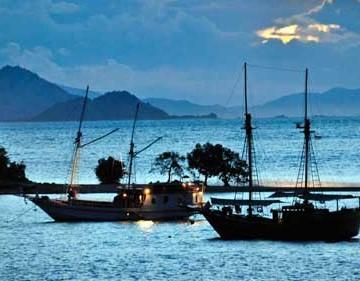 Labuan Bajo Sunset at the harbor