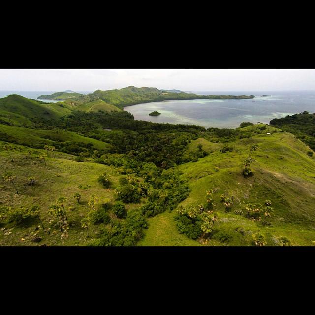 aerial shots of Labuan Bajo