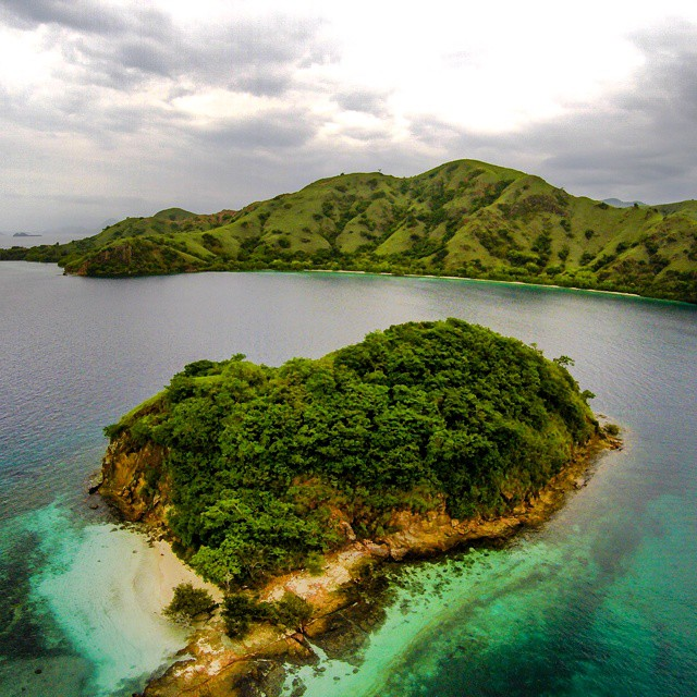 aerial shots of Labuan Bajo