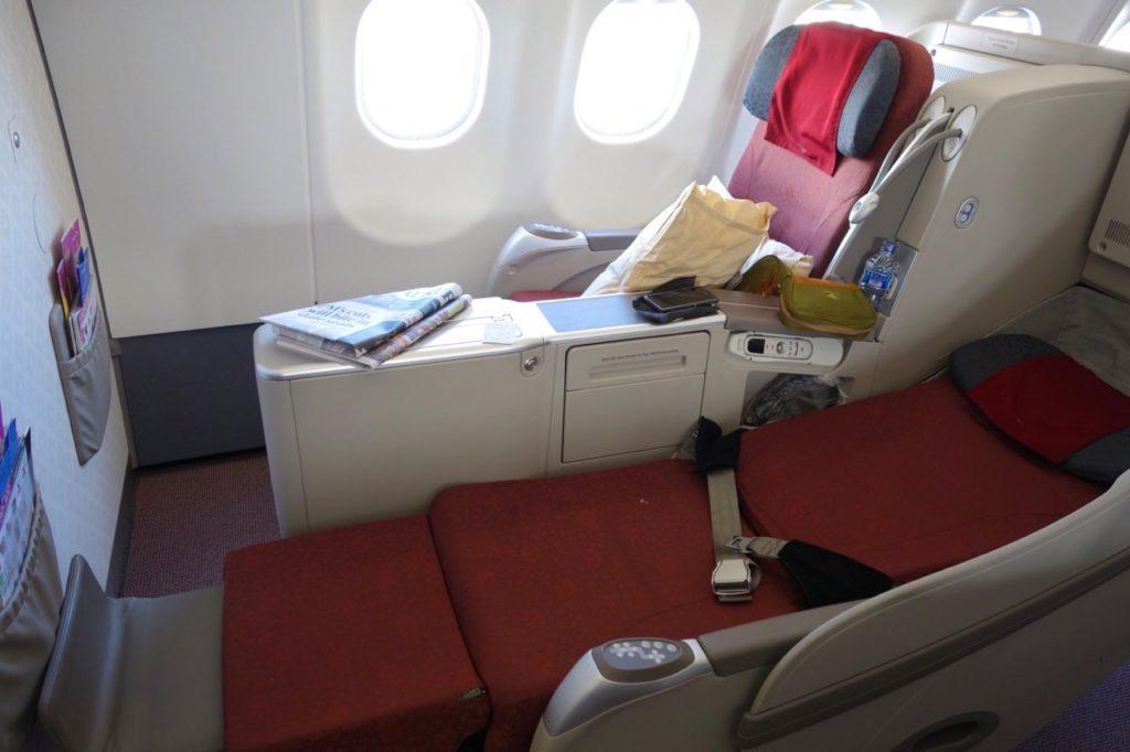 Business Class Seat, Garuda Indonesia A330-300 Sydney to Denpasar