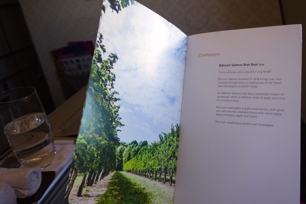 Wine Menu, Garuda Indonesia Business Class Sydney to Denpasar