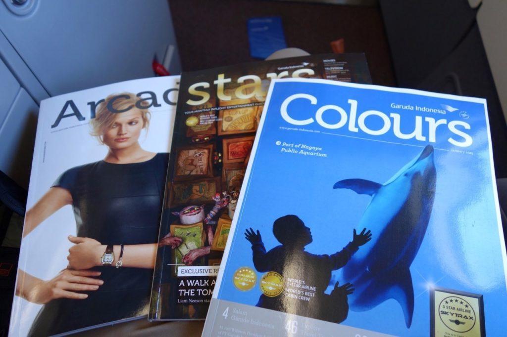 In-Flight Magazines for Garuda Indonesia GA 715 Sydney to Denpasar A330-300