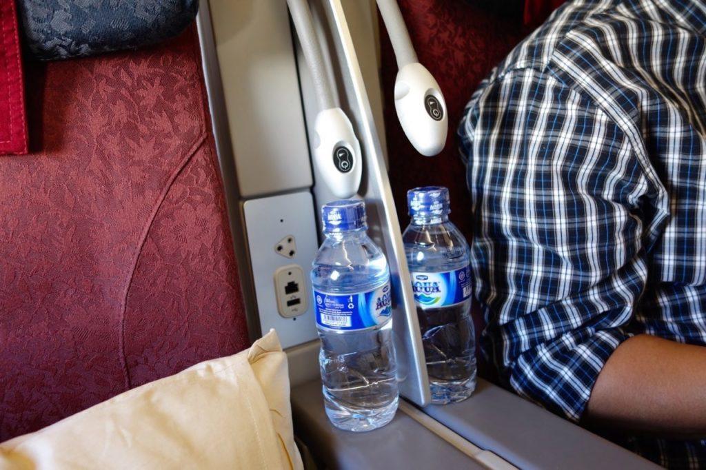 Water Bottle in each seat