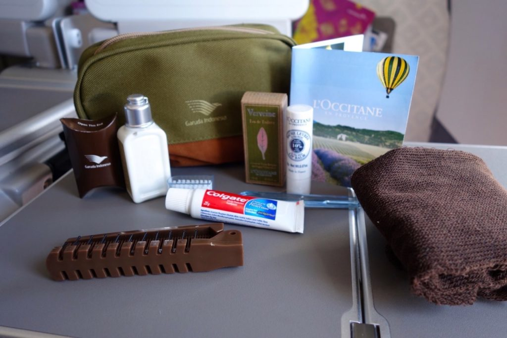 Business Class Amenity Kit for Garuda Indonesia: L'Occitane