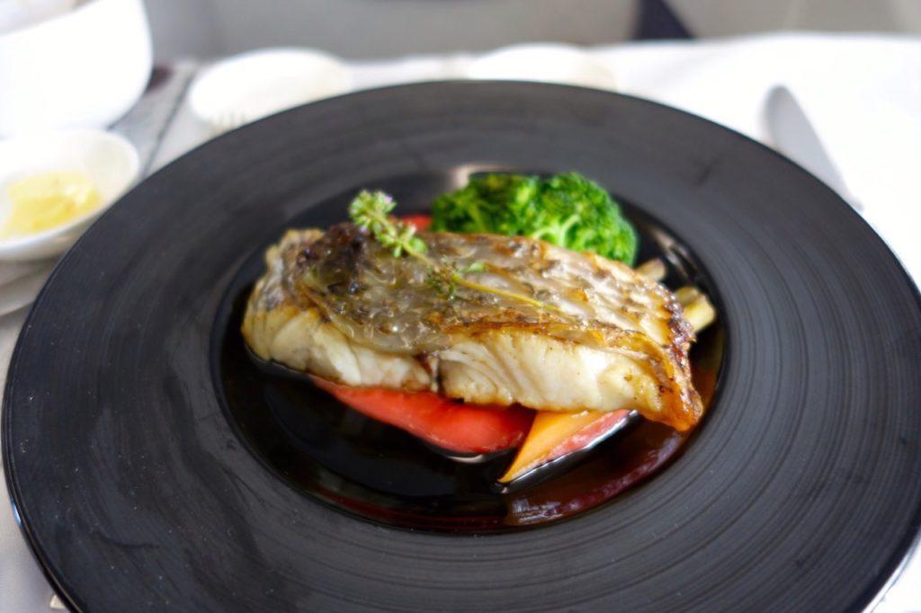 European Meal Main Course, Garuda Indonesia, Sydney to Denpasar Business Class