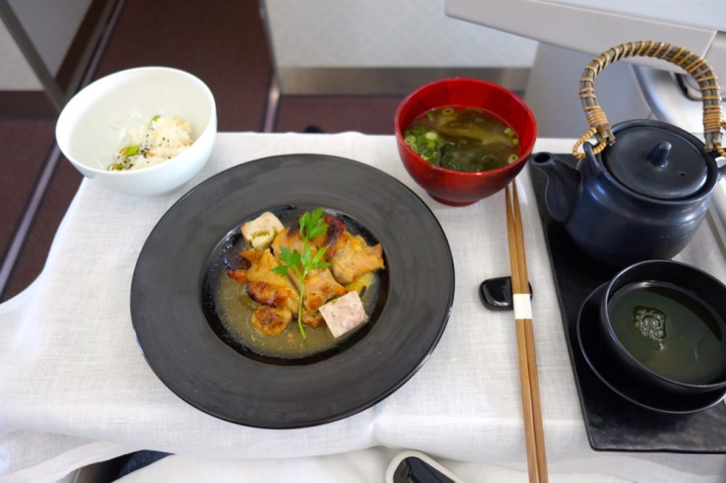 Japanese Main Meal (Lunch) Garuda Indonesia Business Class Sydney to Denpasar