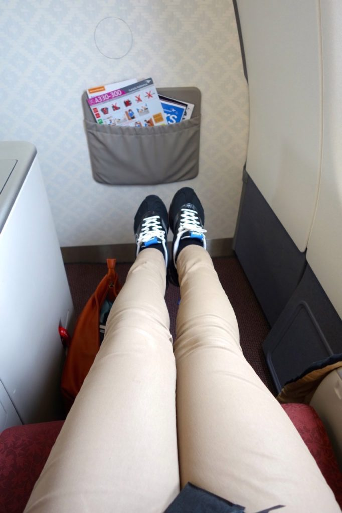Business class seat on the A330-300 Garuda Indonesia Sydney to Denpasar