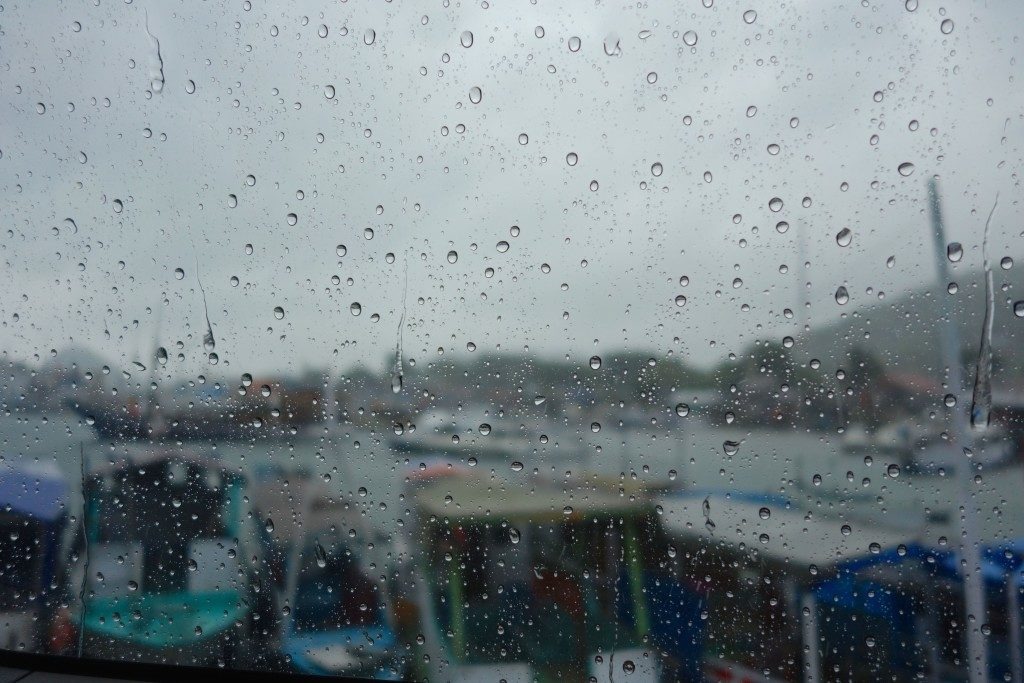 rainy morning, port of Labuan Bajo