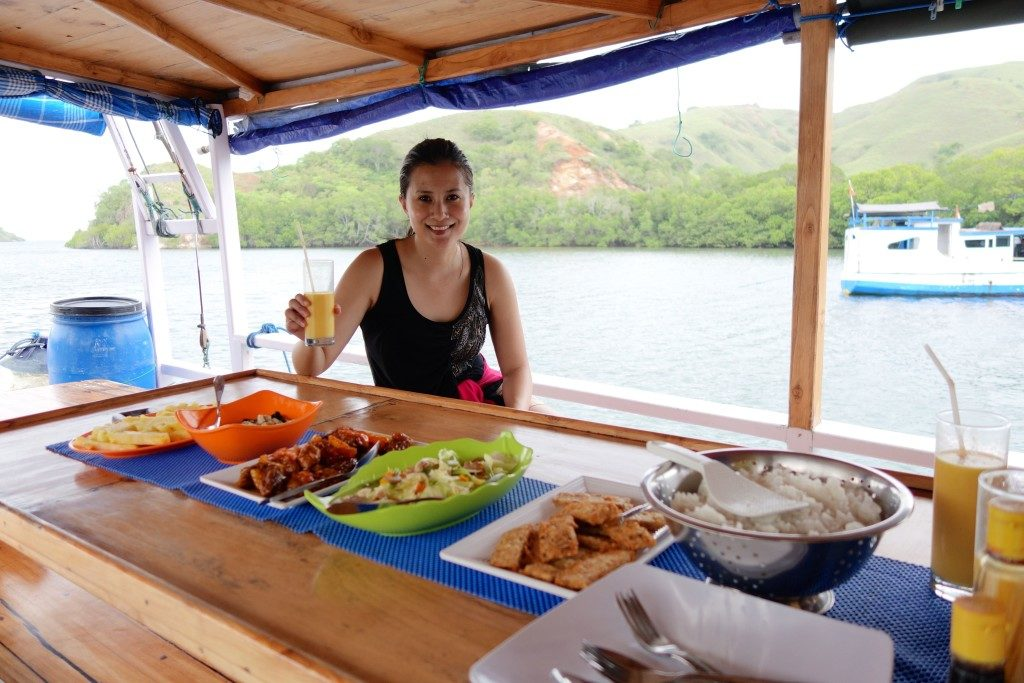 Lunch On Board. Exploring Komodo Islands with Flores Adventure Tours