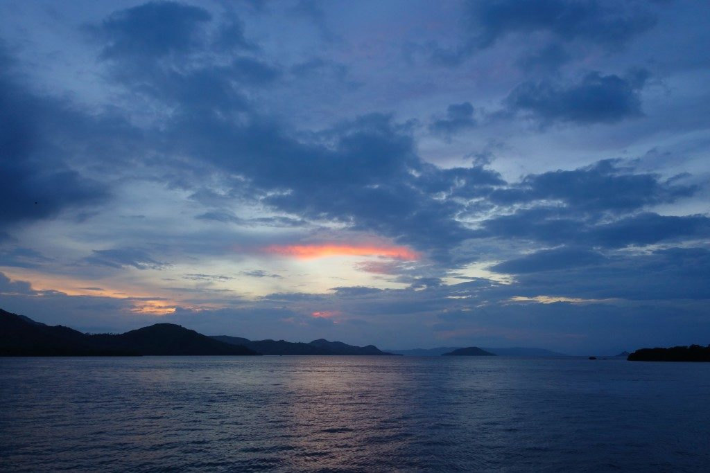 sunset at Komodo National Park