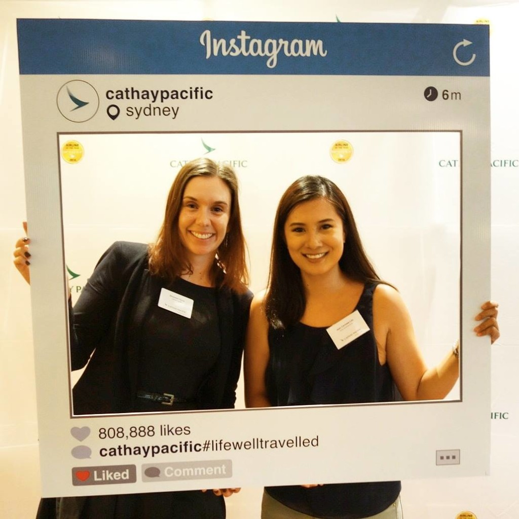 With Cathay Pacific's Shannon Davis. #lifewelltravelled