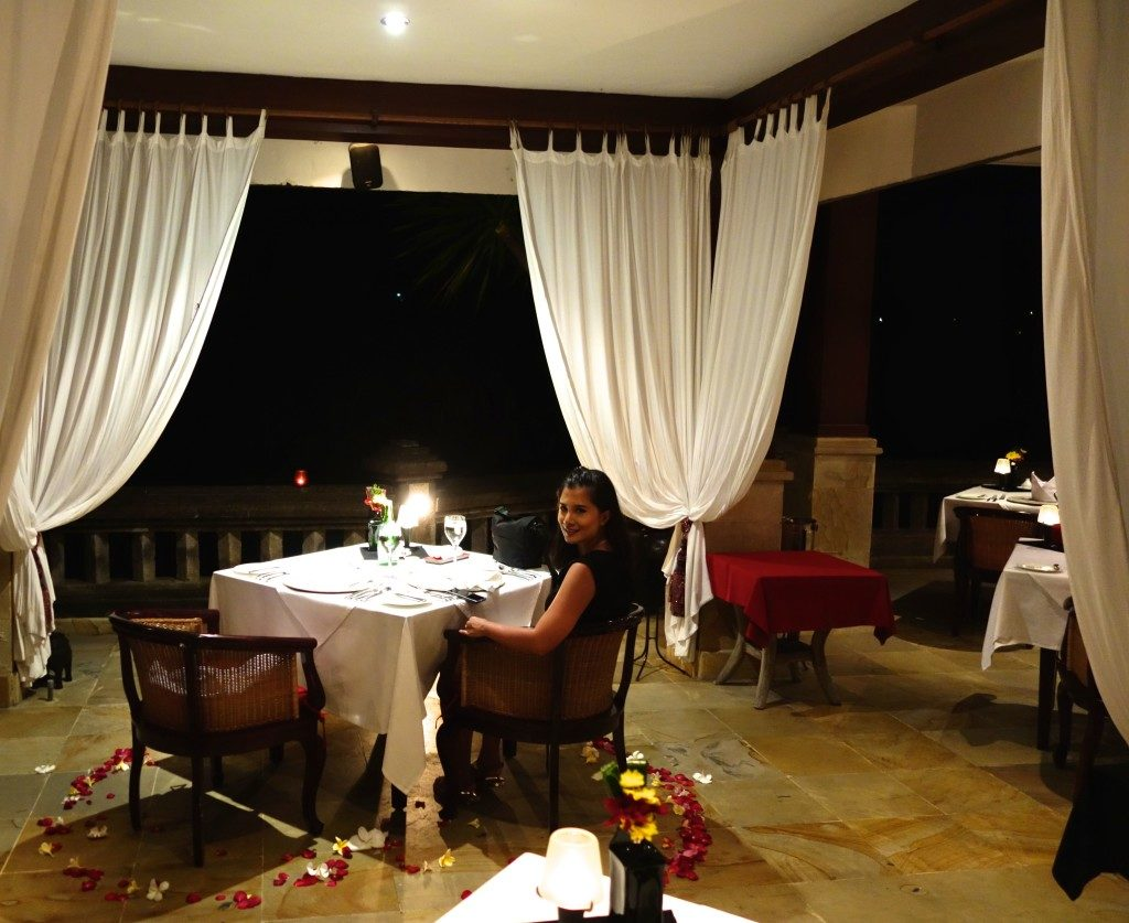 Dinner at Cascades Restaurant, Viceroy Bali