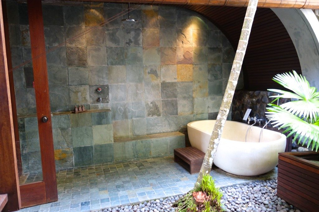 Semi Outdoor Bath Deluxe Room At Alila Ubud Bali