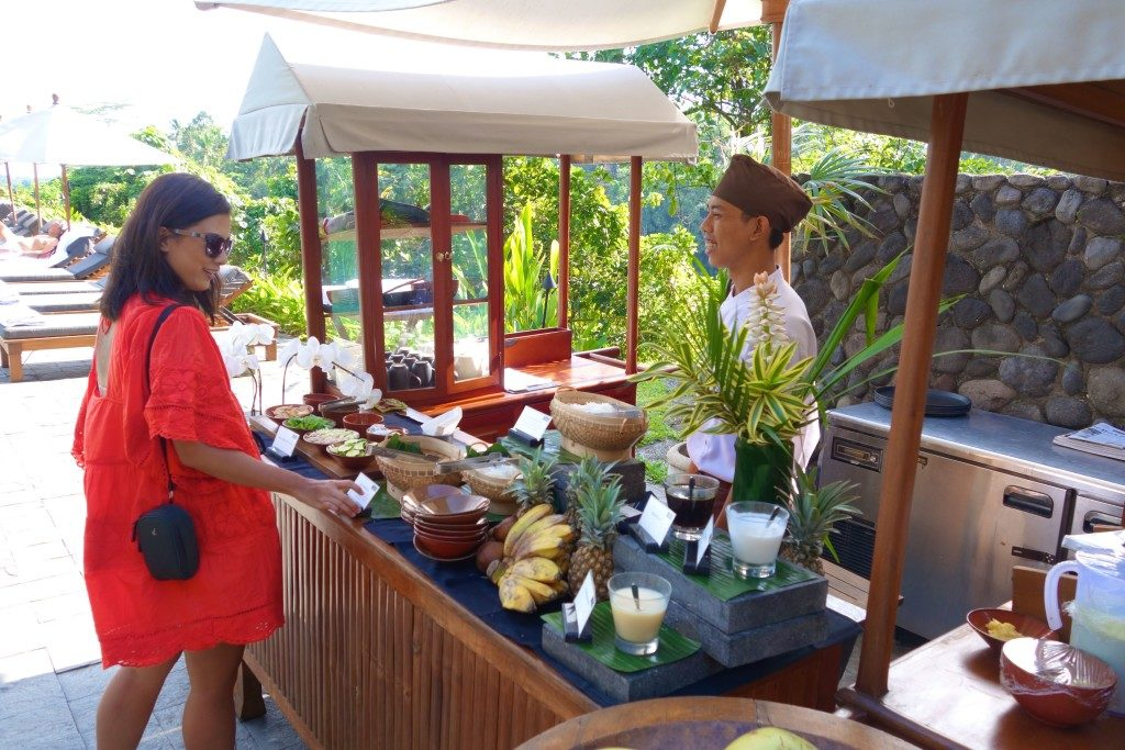 Alila Ubud poolside afternoon tea