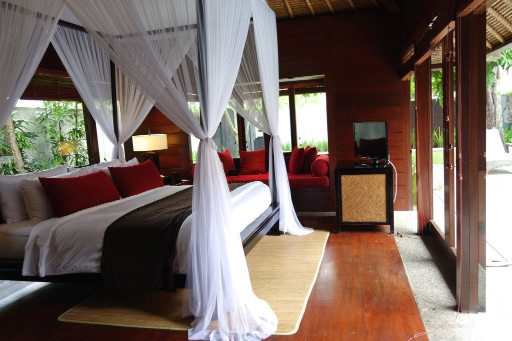 One of the bedrooms in the 2-bedroom Villa of Kayumanis Jimbaran Private Estate